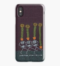 Sunflower Skeletons iPhone Case/Skin
