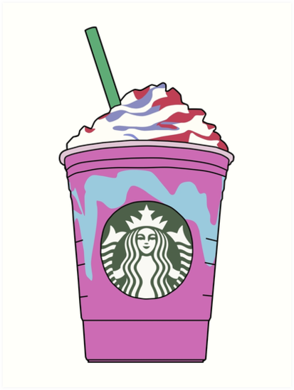 Quot Starbucks Unicorn Frappuccino Illustration Quot Art Prints