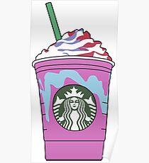 Starbucks Unicorn Frappuccino Illustration Poster