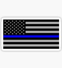Dünne blaue Linie USA-Flagge Sticker