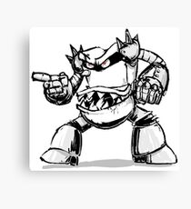 Attack From The Toilet Monster Canvas Print