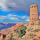 Grand Canyon Stone Tower. by Walter Colvin