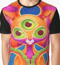 Precious Three-eyed Tentacle Cat Baby Graphic T-Shirt