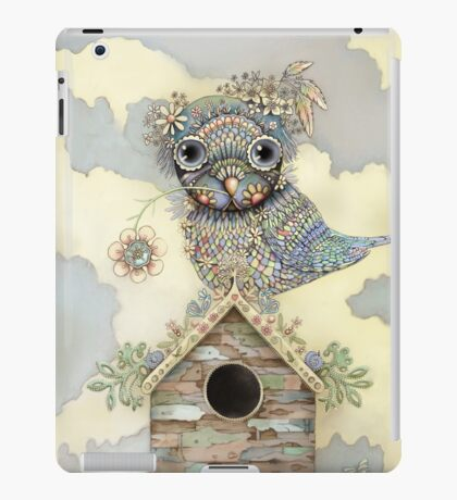 Blue Owl Birdhouse I iPad Case/Skin