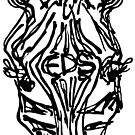 EDS Forehead Zebra Inkwork by Razvan-Sedekiah