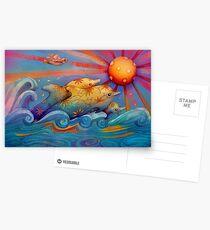 rainbow dolphins Postcards