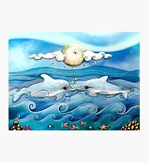 baby dolphins Photographic Print