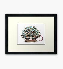 The Little Echidna Framed Print