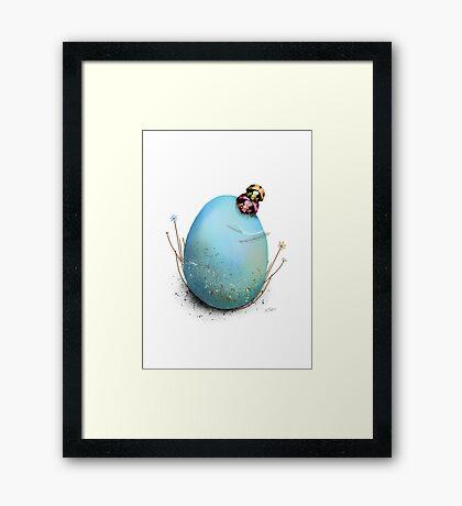 Ladybird Hugs Framed Print