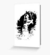 Samurai  (black) Greeting Card