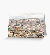 Ecuador capital city Quito Greeting Card