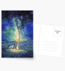 Watercolor Night Sky Postcards