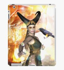Beautiful dark fairy with crow iPad Case/Skin