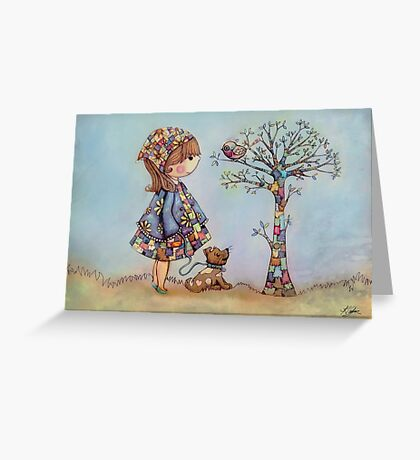 The Patchwork Tree Greeting Card