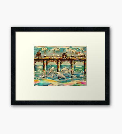 Dolphin Pier Framed Print