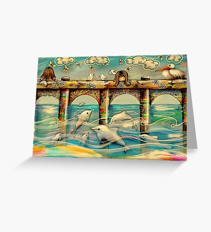 Dolphin Pier Greeting Card