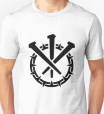 Crown and Nails, Black Slim Fit T-Shirt