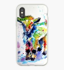 Cute baby goat iPhone Case