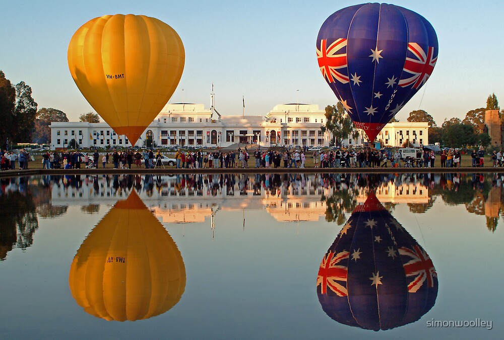 Balloons at Old Parliament House by simonwoolley