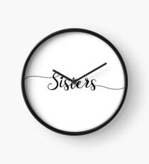 Sisters - Girly - Typography Clock