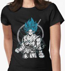 Goku Super Saiyan Blue  Womens Fitted T-Shirt