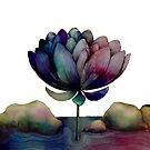 rainbow lotus flower by Karin Taylor