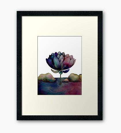 rainbow lotus flower Framed Print