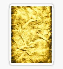 Wrinkle Gold Sticker