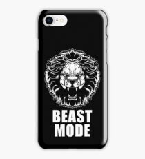 Beast Mode Gym Fitness Lion iPhone Case/Skin