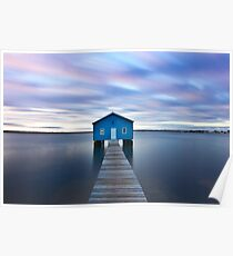 Sunrise at Matilda Bay Boatshed in Perth, Western Australia Poster