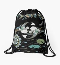 Lucky Koi Mandala Drawstring Bag