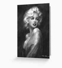 Theo's Marilyn WW black-white Greeting Card