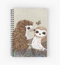 Owl and Hedgehog Spiral Notebook
