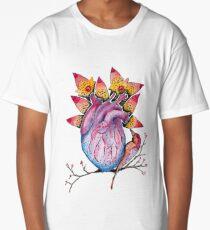 Bird on the Heart  Long T-Shirt