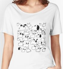 Many Dogs Women's Relaxed Fit T-Shirt
