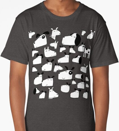 Many Dogs Long T-Shirt