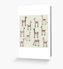 Lamas auf der Wiese Grußkarte