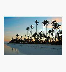 Beach Sunset in Zanzibar Photographic Print