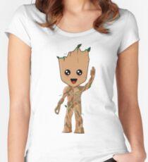 Kawaii Baby Groot Women's Fitted Scoop T-Shirt