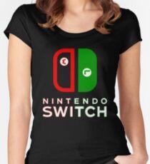 Mario & Luigi Switch Logo Women's Fitted Scoop T-Shirt