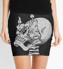 Burnout Mini Skirt