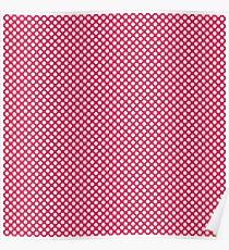 Raspberry Polka Dots Poster