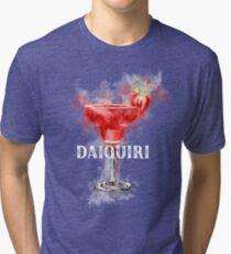 Watercolor Daiquiri Cocktail Tri-blend T-Shirt