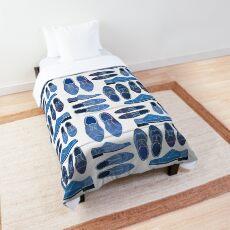 Blue Brogue Shoes Comforter