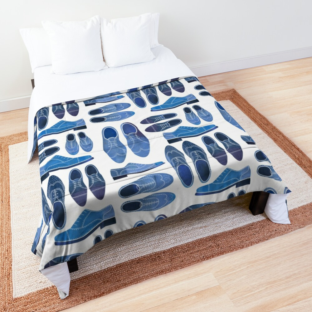 Blue Brogue Shoes Comforter