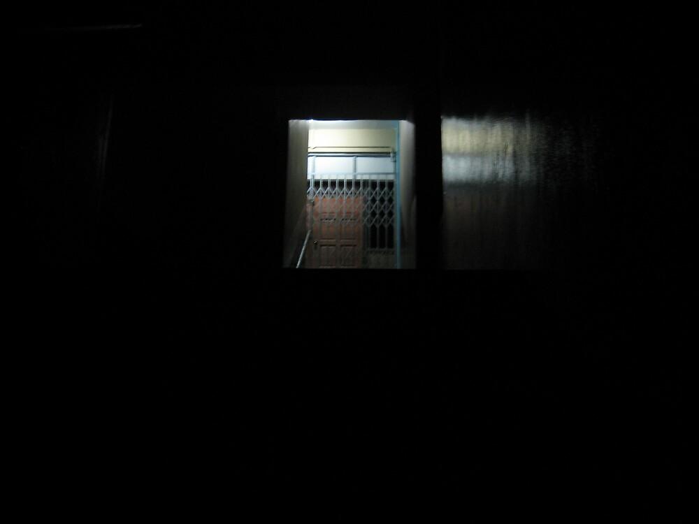 creepy school staircase by eminarsiac