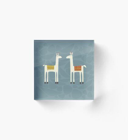 Everyone lloves a llama Acrylic Block