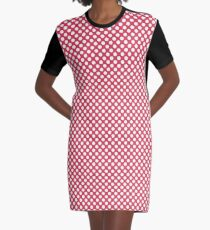 Teaberry Polka Dots Graphic T-Shirt Dress