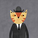 Ginger Cat in a Bowler Hat by Nic Squirrell