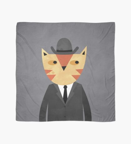 Ginger Cat in a Bowler Hat Scarf